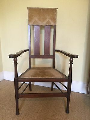 edwardian  mahogany elbow Chair Bedroom Hall Dining Padded Back  solid