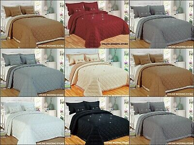 Luxury Reversible 5 Pieces Diamond Bedspread with mating cushion & Pillow case