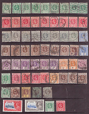 NIGERIA . GV. A selection from issues mostly F/U, some mint. ( K403)