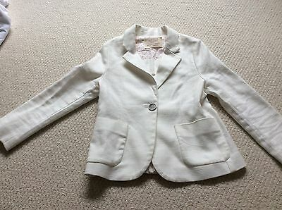 Girls cream Zara jacket - 5-6 years (116cm)