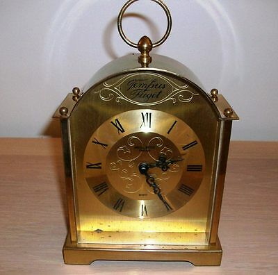 A Vintage Brass Mantel/ Carriage Clock  Made In U.k By Anstey Wilson