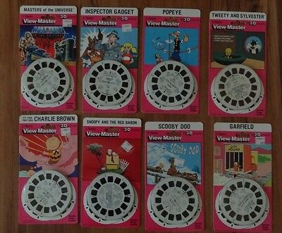 Vintage 1950-1978 Viewmaster New 8 Packages See Pictures