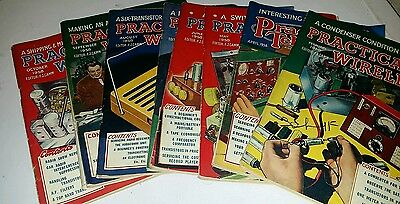 8 Copies of  Pactical wireless magazine 1958