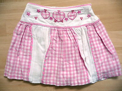Girls pink & white cotton skirt, age 3-4 years