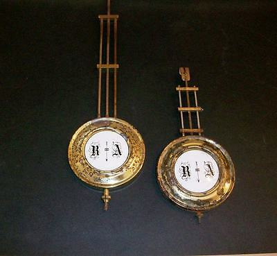 2 Antique  Clock Pendulums  Made. In  Germany  Marked  R. A.