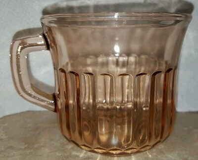 Fortecrisa Pink Depression Glass Coffee Mug Cup Made in Mexico