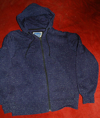 No Fear blue zipped hoodie small