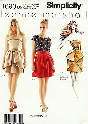 Simplicity Pattern S1690 Dress, Skirt & Top Sized to Fit My Size Barbie