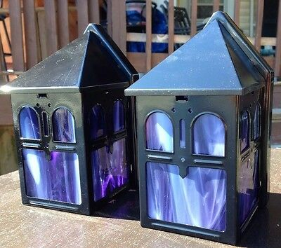 Vintage Porch / Entry Lights - Metal & Stained Glass (Purple) - GR8 X-MAS GIFT !