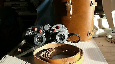 WW2 vintage military Ross binoculars with case