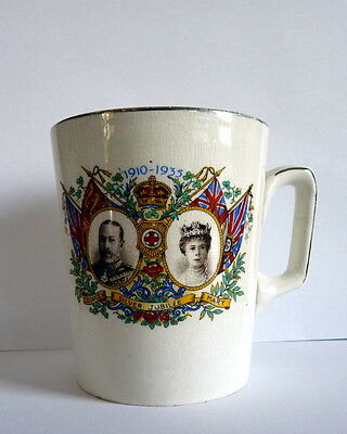 1935 Silver Jubilee Commemorative Mug George V And Queen Mary