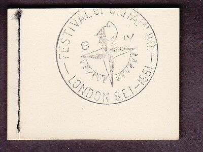 George Vi Booklet Bd7 With 1951 Festival Of Britain Handstamp