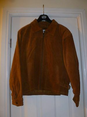 Girl's Brown Suede Jacket - Size 158-164