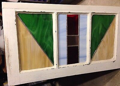 Vintage SM Stained Glass Window ~ Multi Color Design ~ GR8  X-MAS GIFT 🎁
