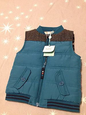 NEW M&Co Baby Boy Gilet BNWT Teal Zip Up