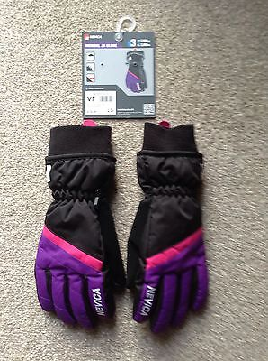 New Nevica Ski Gloves Size Large Girls Or Small Womens  Black/purple/pink
