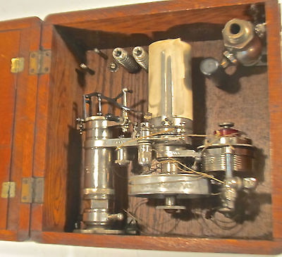 Antique Lippincott Steam Engine Indicator In Oak Case Pat. May 1, 1900