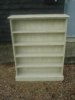 Lovely Pine Floor Standing Bookcase Bookshelf Painted & Distressed Shabby Chic