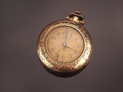 Fahys Montauk Antique Victorian Miniature Pocket Watch Pendant in Gold Filled.