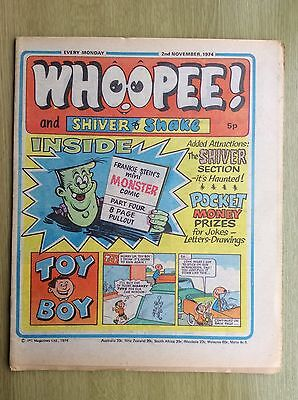 WHOOPEE! Comic + 8-page PULLOUT - PART FOUR of Frankie Stein Comic: 2nd Nov 1974
