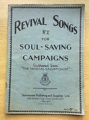 The SALVATION ARMY - Revival Songs No.ll for Soul-Saving Campaigns - 1932