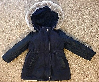 Girls TED BAKER Winter Warm Parka 2-in-1 Coat Jacket Age 18-24 Months 2 Years