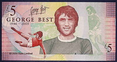 George Best Fiver Five £5 Pound Note, Brand New, Uncirculated, Genuine