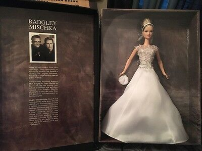 badgley mischka Barbie Doll NRFB & Shipper Gold Label