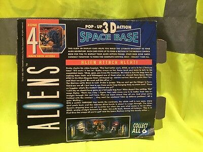 Aliens Pop Up 3D space base by Kenner 1992 ZONE 4