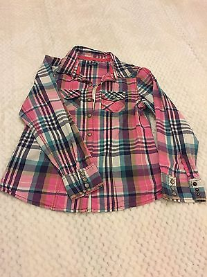 Girls Next Checked Shirt Age 9