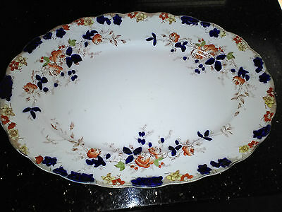 Vintage S Hancock & Sons Millais Frilled Edge Charger Plate Platten circa 1906