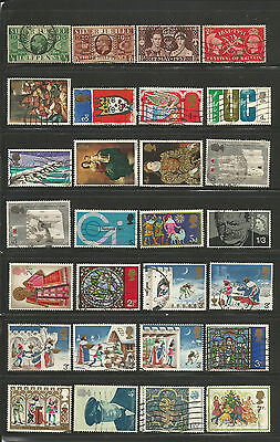 76 Different Used Great Britain Commemorative Stamps