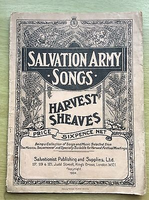 SALVATION ARMY Songs - HARVEST SHEAVES - dated 1924