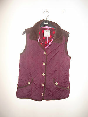 Next Girls Stylish Quilted Gilet Bodywarmer Age 11 Years