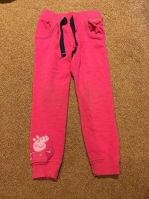 M&S Peppa Pig Pink Jogging Bottoms. Aged 3-4 Years.