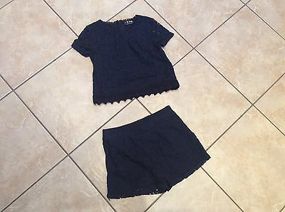 Girls Next Shorts And Top Set, Navy, Aged 8 Years