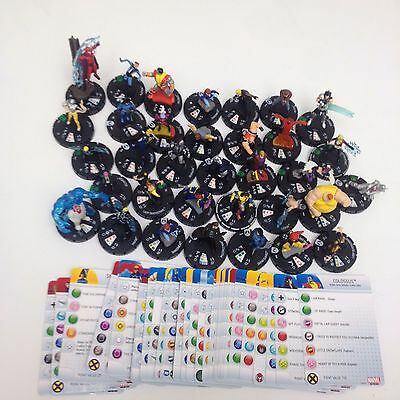 [Kev] Heroclix Wolverine and the X-Men sets lot of 34 C/U/R/GF figures w/cards!