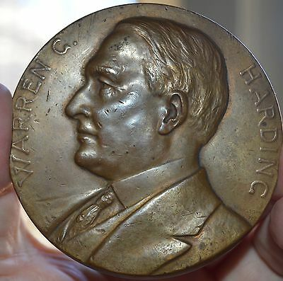 Old Great Patena President Warren G. Harding  Us Mint Bronze  Medal 3""