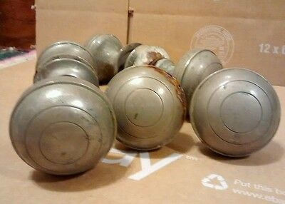 Antique Silver Round Door knobs Lot
