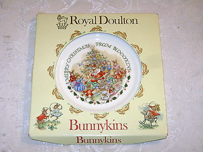 MIB Royal Doulton BUNNYKINS Merry Christmas Plate Never Opened A