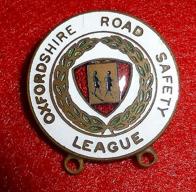 Oxfordshire Road Safety League CIRCA 60s  Pin Badge: