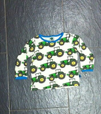 Lovely Boys Tractor Long Sleeve T-shirt By Smafolk Age 3-6 Months