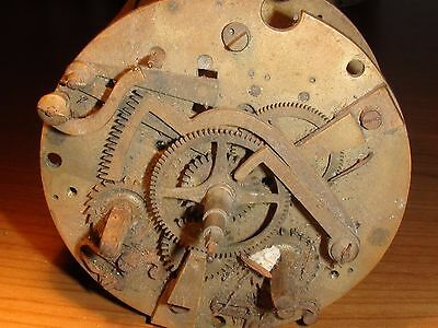 Antique French Clock Movement  F Marti for Parts/Repair
