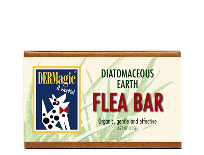 DERMagic Organic Shampoo Bar for Dogs with Fleas Diatomaceous Earth