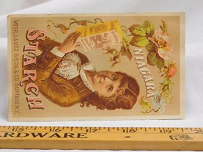Lautz Bros & Co Niagara Starch T.E Gallagher Grocer Lovely Lady Flowers Box F42