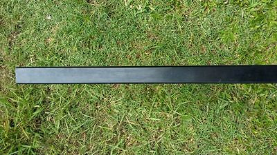 Pool Fence Post Aluminium Square  50 x 50 x 1.8 x 1800mm - Black Powder coated