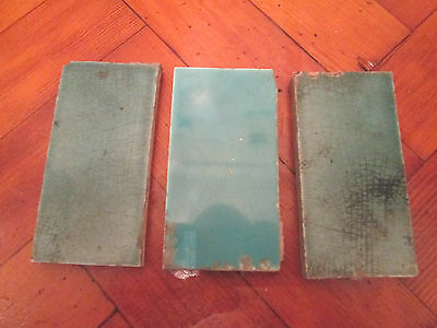 Set Of Three Vintage Fire Place Tiles