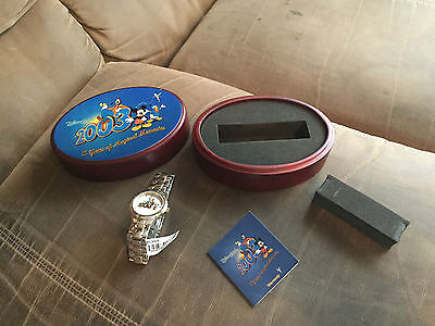 RARE-Disney Land 2003 Goofy Mickey Memories LE Stainless Steel Fossil Watch-NEW*