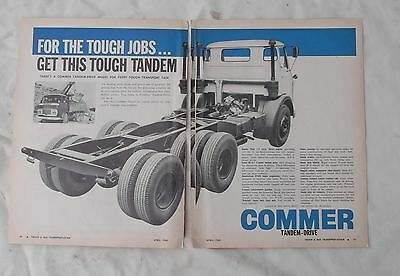 Commer Truck Original Double Page Advertisement removed from a Magazine