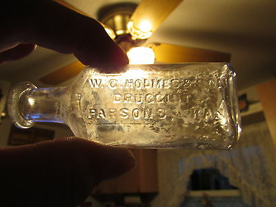SCARCE Size W.C. HOLMES & SON Druggists PARSONS, KAN. - 1906-1914 Only 8 YEARS !